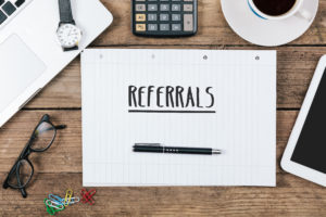 Referrals on notepad